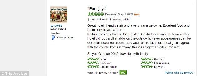 Trip Advisor e la beffa di Glasgow | Sergio Fadini (il ... Funny Hotel Reviews